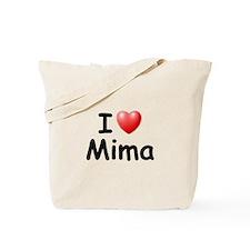 I Love Mima (Black) Tote Bag