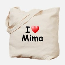 I Love Mima (Black) Tote Bag