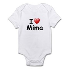 I Love Mima (Black) Infant Bodysuit