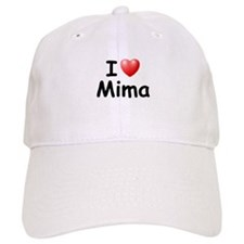 I Love Mima (Black) Baseball Cap