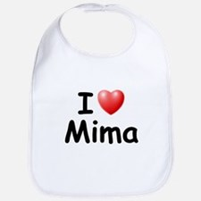 I Love Mima (Black) Bib
