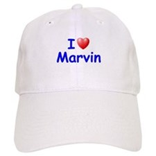 I Love Marvin (Blue) Baseball Cap