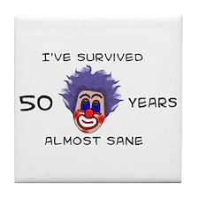 50 Birthday Tile Coaster