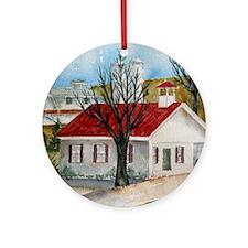 Lancaster Schoolhouse Ornament (Round)