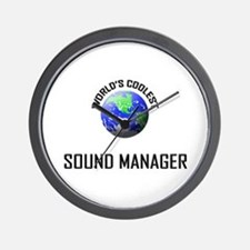 World's Coolest SOUND MANAGER Wall Clock