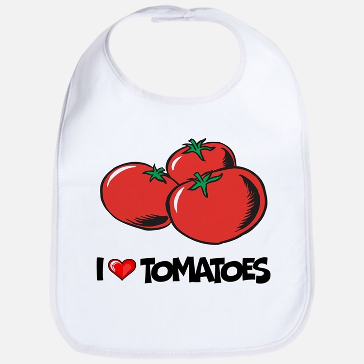 I Love Tomatoes Bib