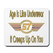 Funny 57th Birthday Mousepad