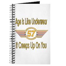 Funny 57th Birthday Journal
