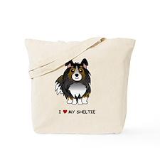 Tri Color Sheltie Tote Bag