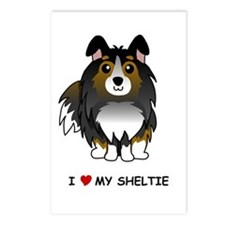 Tri Color Sheltie Postcards (Package of 8)
