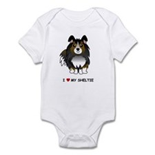 Tri Color Sheltie Infant Bodysuit