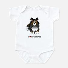 Tri Color Sheltie Infant Bodysuit