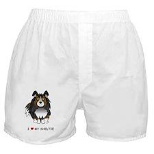 Tri Color Sheltie Boxer Shorts