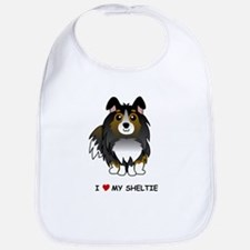 Tri Color Sheltie Bib