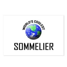 World's Coolest SOMMELIER Postcards (Package of 8)