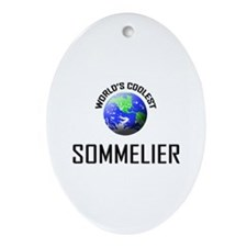 World's Coolest SOMMELIER Oval Ornament