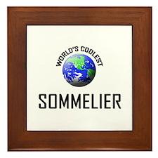World's Coolest SOMMELIER Framed Tile