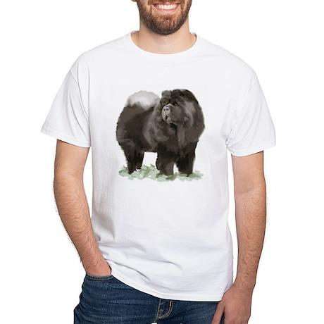 black chow portrait White T-Shirt