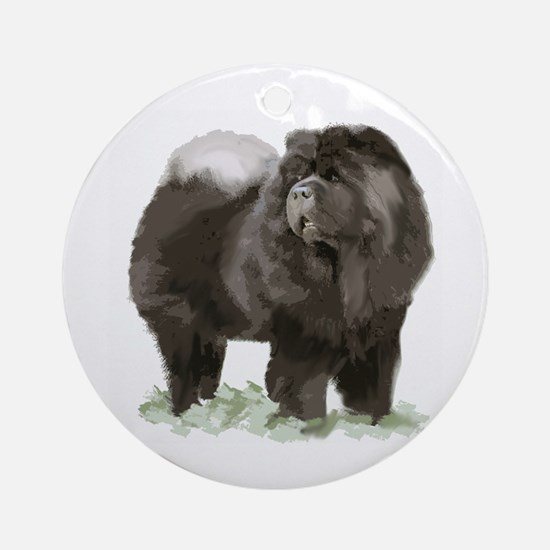 black chow portrait Ornament (Round)