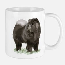 black chow portrait Mug
