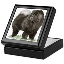 black chow portrait Keepsake Box