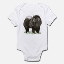 black chow portrait Infant Bodysuit
