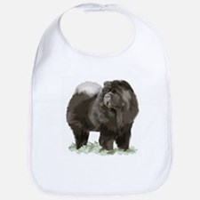 black chow portrait Bib