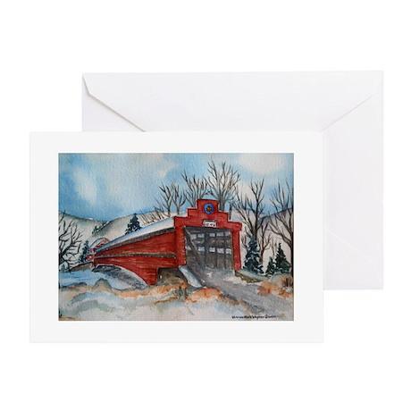 Covered Bridge Blank Greeting Card