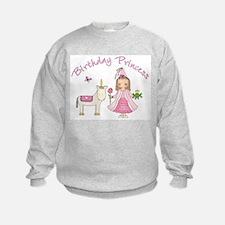 Unicorn Princess Birthday Sweatshirt