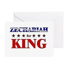 ZECHARIAH for king Greeting Card
