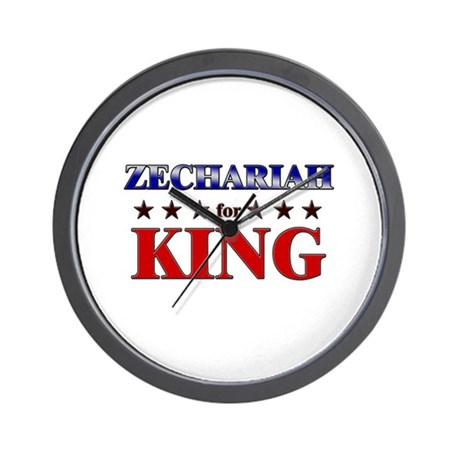 ZECHARIAH for king Wall Clock