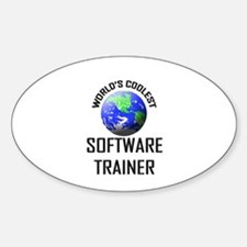 World's Coolest SOFTWARE TRAINER Oval Decal