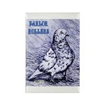 Parlor Roller Pigeon Rectangle Magnet (10 pack)