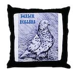 Parlor Roller Pigeon Throw Pillow