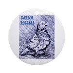 Parlor Roller Pigeon Ornament (Round)