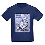 Parlor Roller Pigeon Kids Dark T-Shirt