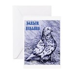 Parlor Roller Pigeon Greeting Card