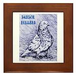 Parlor Roller Pigeon Framed Tile