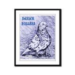 Parlor Roller Pigeon Framed Panel Print