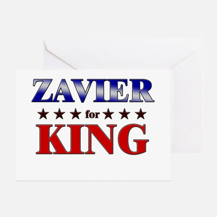 ZAVIER for king Greeting Card