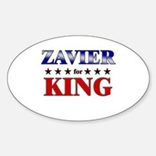 ZAVIER for king Oval Decal