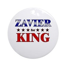 ZAVIER for king Ornament (Round)