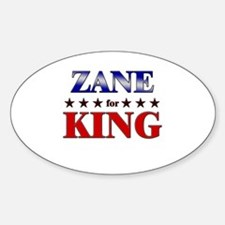ZANE for king Oval Decal