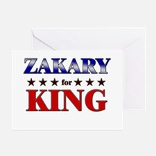 ZAKARY for king Greeting Card