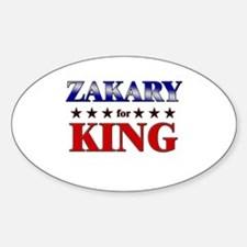 ZAKARY for king Oval Decal