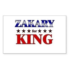 ZAKARY for king Rectangle Decal