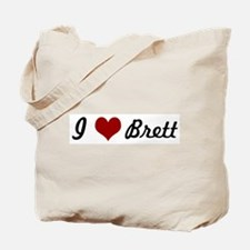 I love Brett Tote Bag