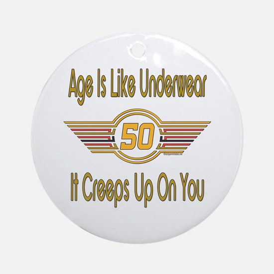 Funny 50th Birthday Ornament (Round)
