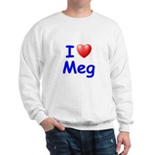 I Love Meg (Blue) Sweatshirt