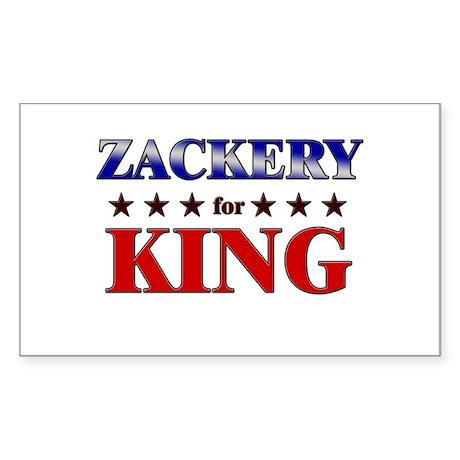 ZACKERY for king Rectangle Sticker